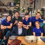 Anto Garzía, Head of Social Media en Atresmedia, con los protagonistas de Cuerpo de Élite