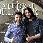 Anto Garzía, Head of Social Media en Atresmedia, con Aitor Luna, protagonista de La catedral del mar